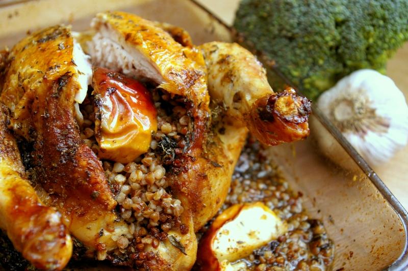 Kurczak nadziewany kaszą gryczaną