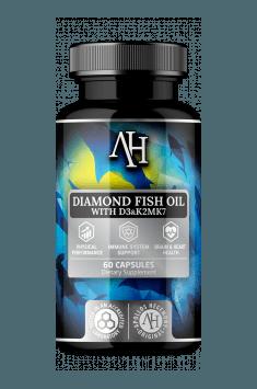 Diamond Fish Oil od Apollo Hegemony to źródło najwyższej jakości kwasów Omega 3 z witaminami D3, K2 oraz E