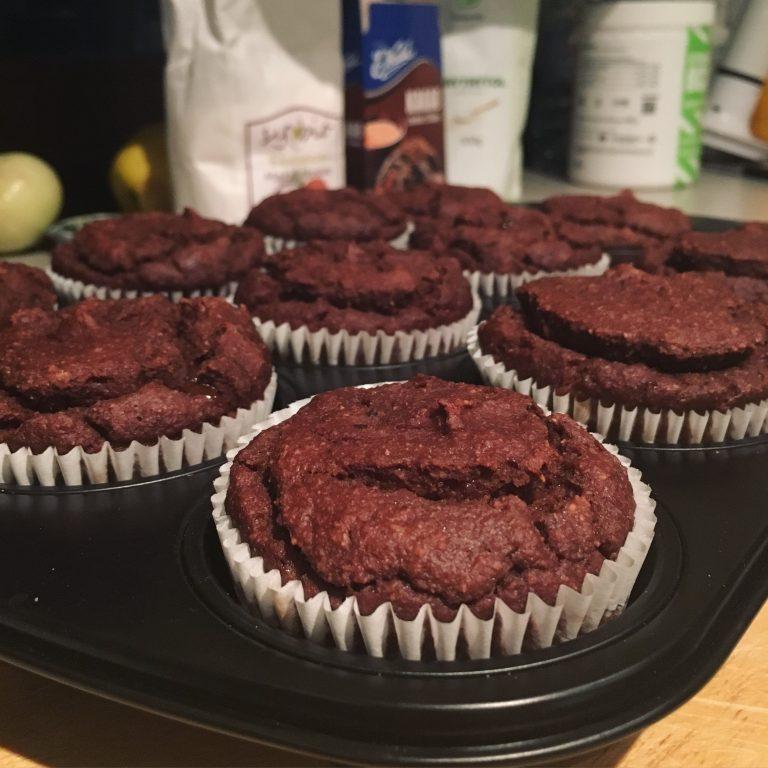 Muffiny kokosowo-bananowo-czekoladowe