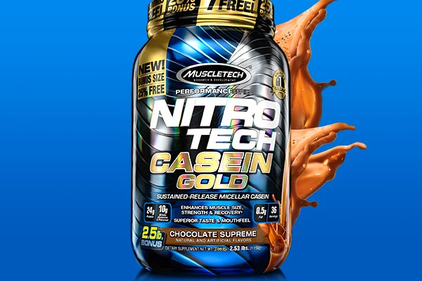 Nitro-Tech Casein Gold w dwóch bonusowych rozmiarach!