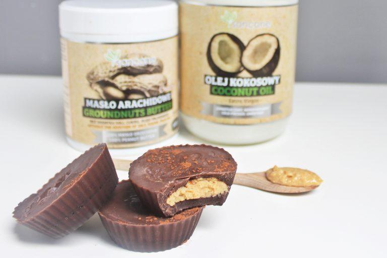 Zdrowe czekoladki z masłem orzechowym