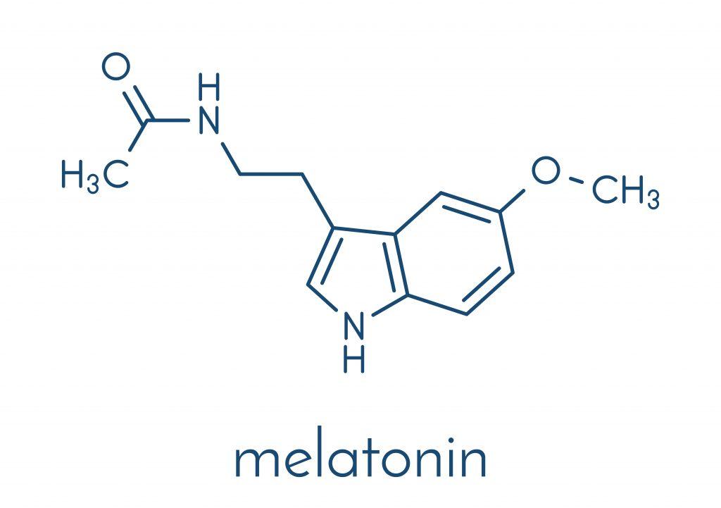Wzór strukturalny melatoniny