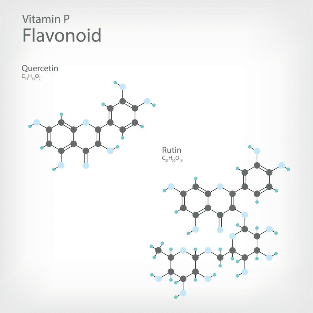 Dwa najbardziej kluczowe flawonoidy - rutyna i kwercytyna
