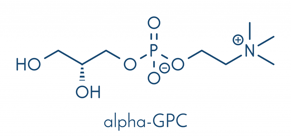 Wzór strukturalny Alpha GPC