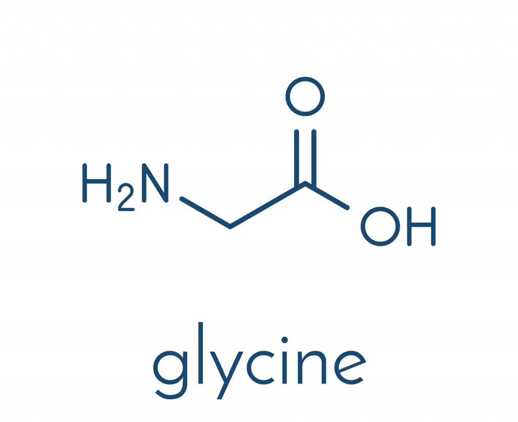 Wzór strukturalny Glicyny