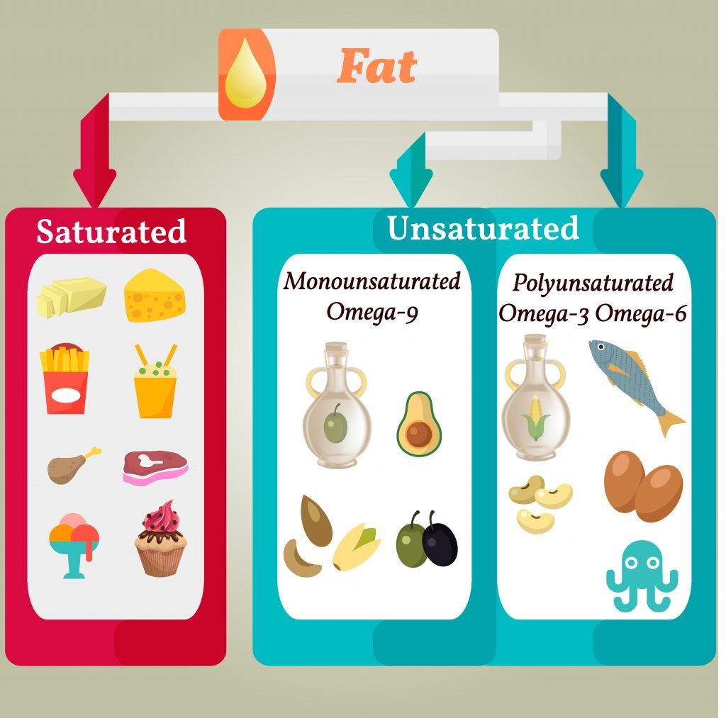 Typy tłuszczów i ich główne źródła w żywności