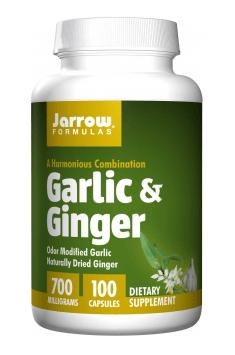 Garlic & Ginger od Jarrow Fromulas to produkt zawierający dwa aktywne ekstrakty z czosnku oraz imbiru pozytywnie wspomagające profilaktykę podczas cyklu SAA