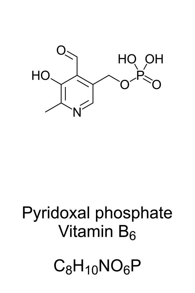 Wzór strukturalny pirydoksalo-5-fosforanu - witaminy B6