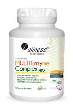 Aliness Multi Enzyme Complex to kompleksowy zestaw enzymów trawiennych i substancji wspomagających trawienie, który może pomóc w profilaktyce zdrowia układu trawiennego