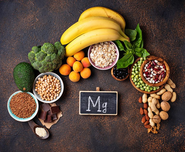 Assortment of product containing magnesium. Healthy diet food
