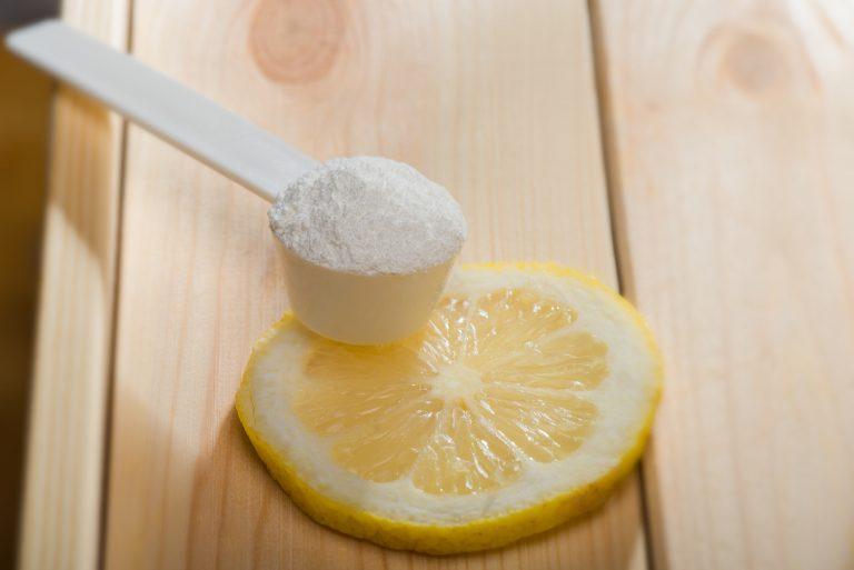 Sport supplement, creatine, hmb, bcaa, amino acid or vitamin mesure with powder. Sport nutrition concept.