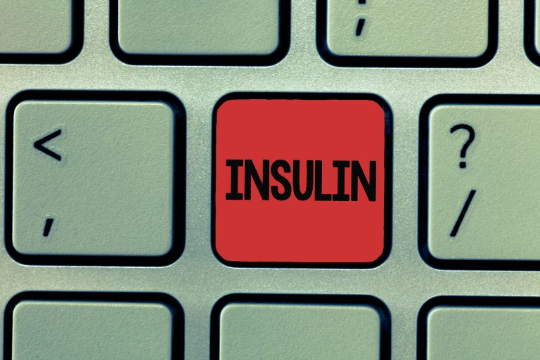 Writing note showing Insulin. Business photo showcasing Protein pancreatic hormone Regulates the glucose in the blood