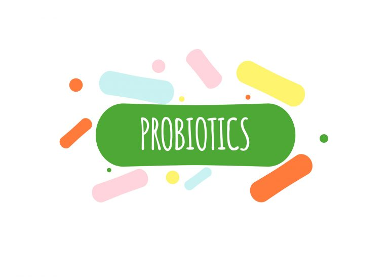 probiotic and bacteria. Simple flat style trend of modern probiotics logo graphic design, isolated on white background.Good bacteria of microorganisms isolated on white background.