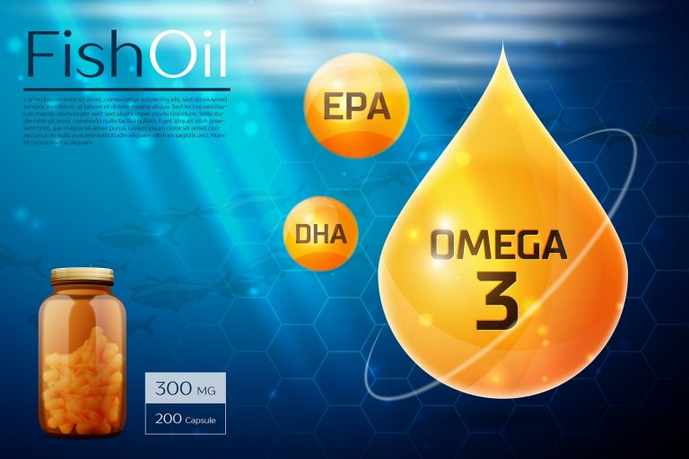 Fish oil template, omega 3, EPA, DHA background Vector illustration EPS 10