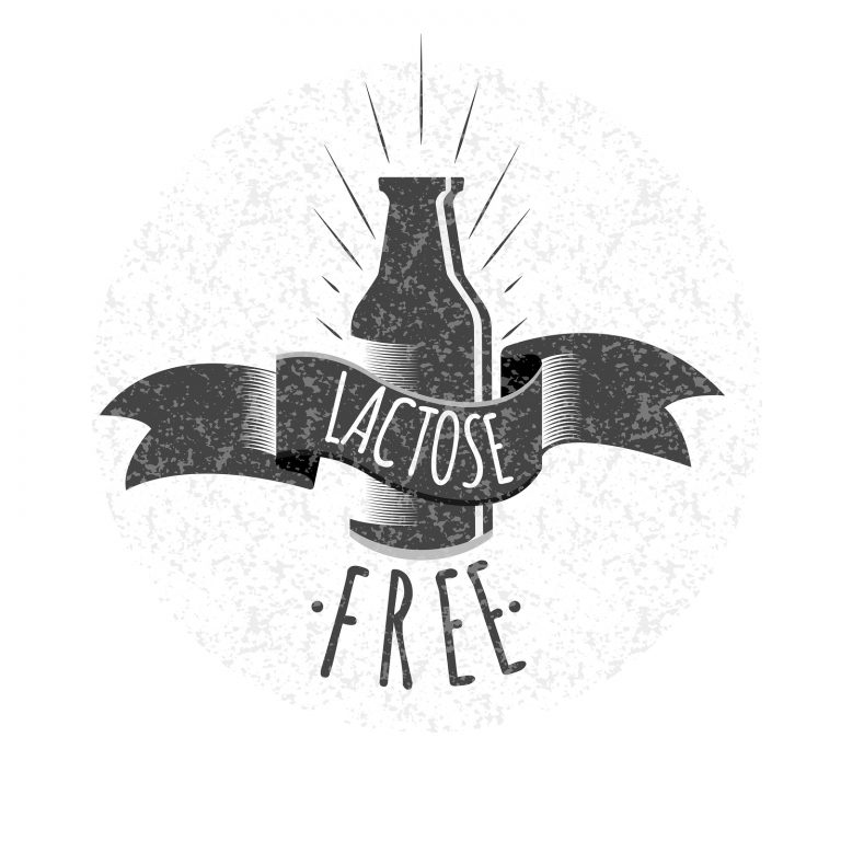 Lactose free logo or icon. Vector illustration.