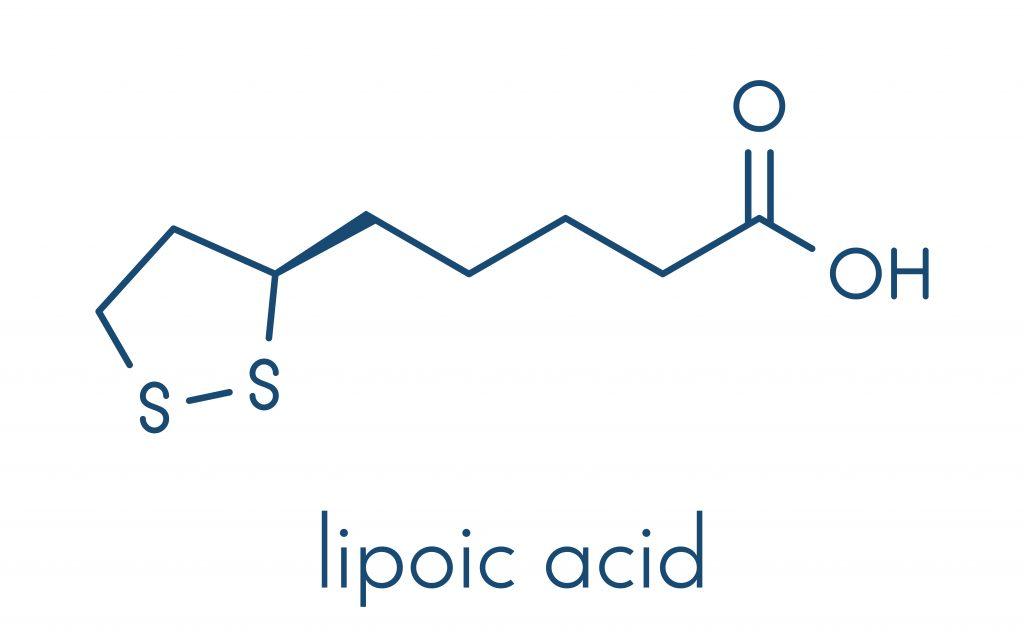 Wzór ALA - kwasu alfa liponowego