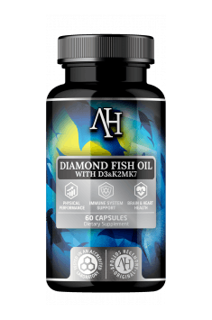 Apollo Hegemony Diamond Fish Oil to połaczenie kwasów Omega 3 wraz z witaminami D3 i K2 w celu całościowego wsparcia walki z insulinoopornością