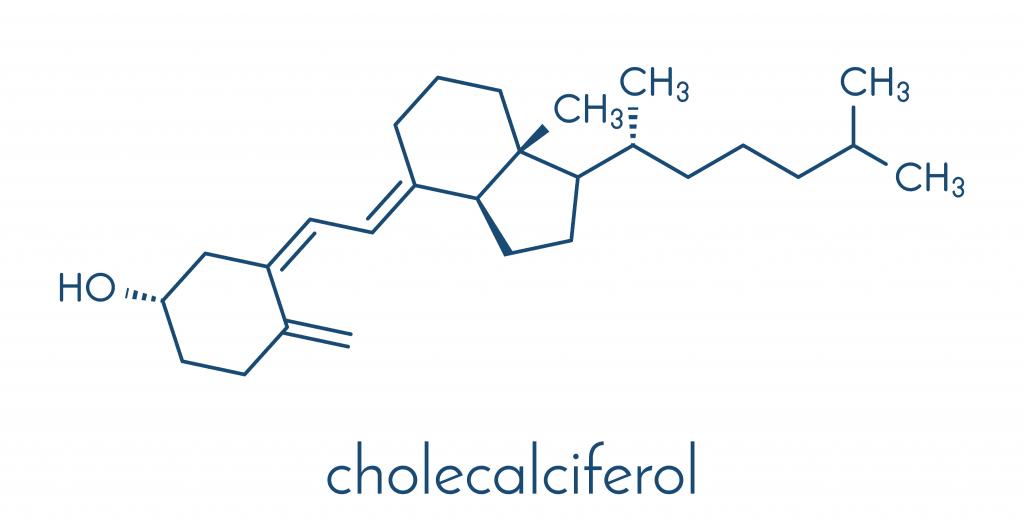 Wzór chemiczny witaminy D3 - choleokalcyferolu