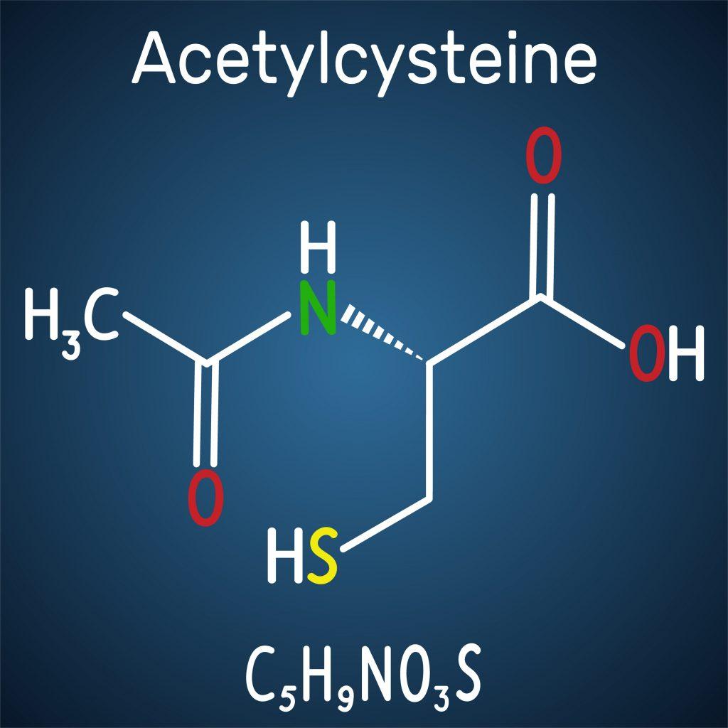 Wzór strukturalny acetylocysteiny