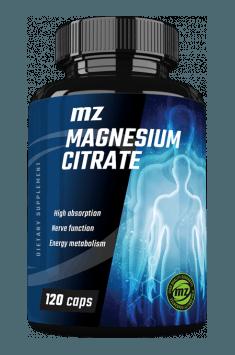 Rekomendowany suplement zawierający wysoką dawkę cytrynianiu magnezu - Magnesium Citrate od MZ Store