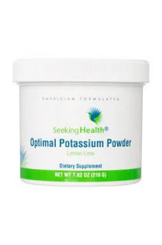 Optimal Potassium Powder od Seeking Health będzie optymalnym wyborem w celu suplementacji Potasu