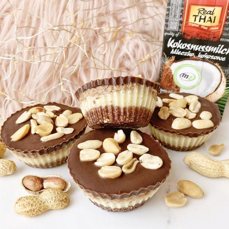 Wegańskie babeczki snickers