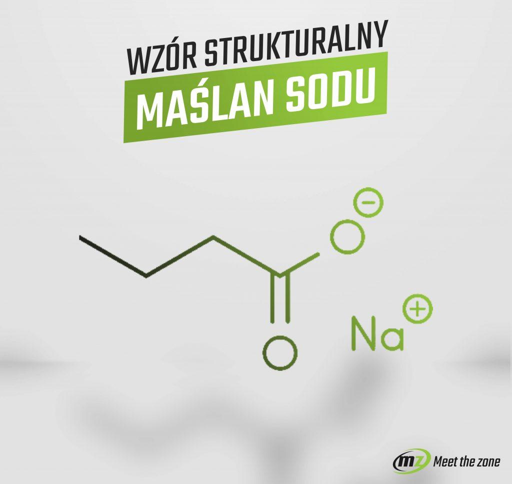 Wzór strukturalny Maślanu sodu