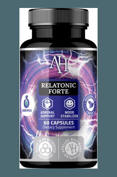Rekomendowany zestaw adaptogenów na zmniejszenie poziomu kortyzolu - Apollo's Hegemony Relatonic Forte