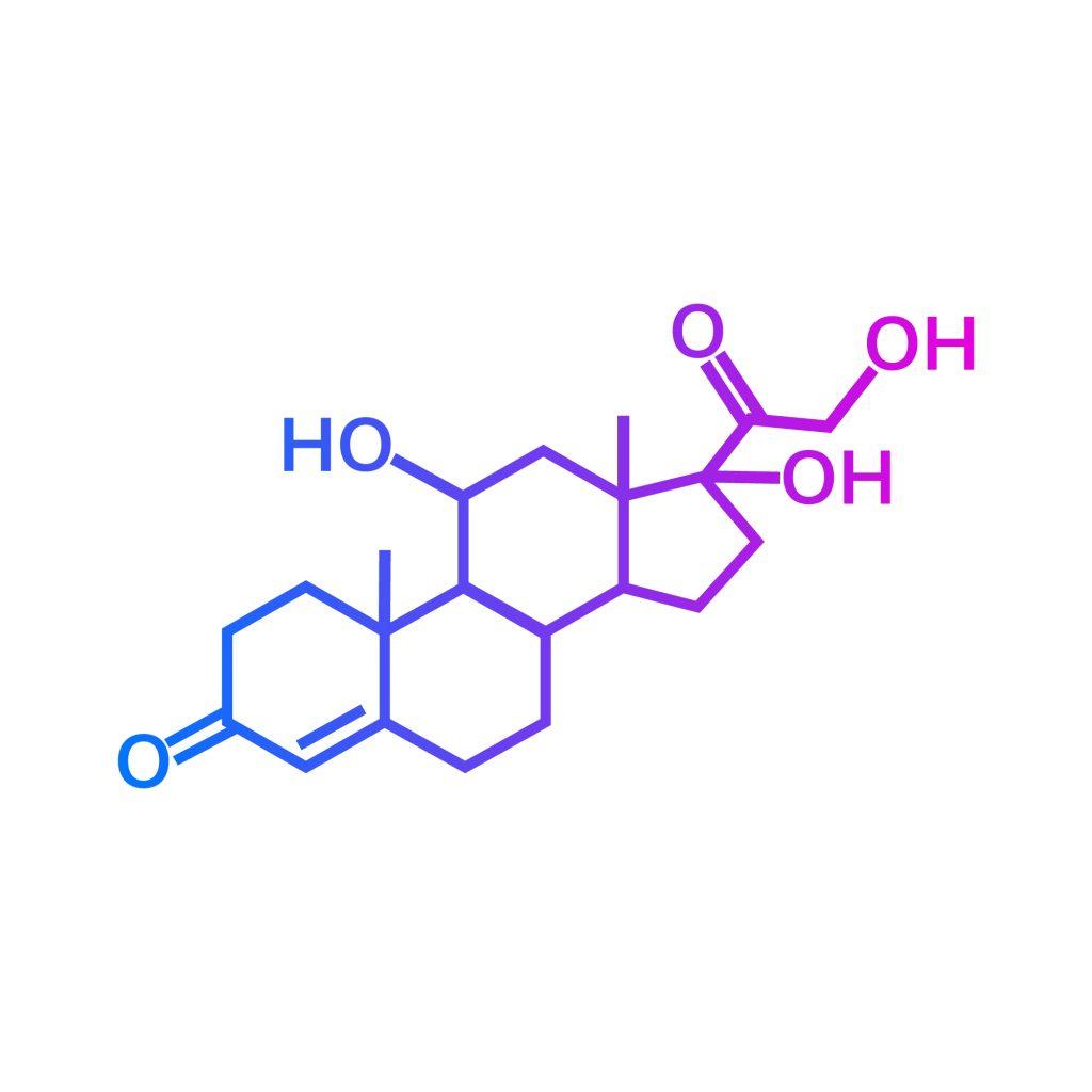 Wzór strukturalny kortyzolu