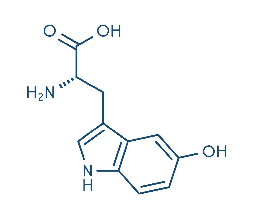 Wzór strukturalny 5-hydroksytryptofanu