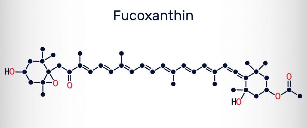 Wzór strukturalny fukoksantyny