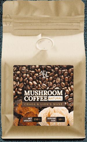 kawa z grzybami chaga lions mane reishi
